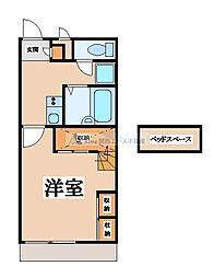 大阪府東大阪市吉田3丁目の賃貸アパートの間取り