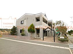 福岡県宗像市江口の賃貸アパートの外観