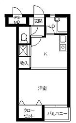 東京都品川区大崎4丁目の賃貸マンションの間取り