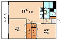 紙屋ビル[5階]の間取り