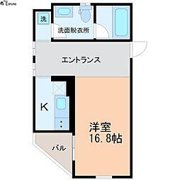 愛知県名古屋市西区城西2丁目の賃貸アパートの間取り