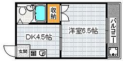 ベルポート堺[6階]の間取り