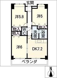 PARK COURTV[9階]の間取り