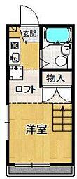 レオパレス宝塚清荒神[2階]の間取り