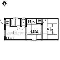 大橋マンション[301号室]の間取り