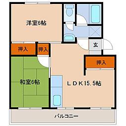 高洲マンション[203号室号室]の間取り
