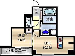 フィアクレー茨木元町[5階]の間取り
