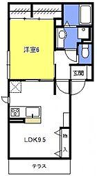 (仮称)浦和上木崎4丁目D-room[202号室号室]の間取り