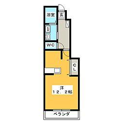 クロス マウンテン[1階]の間取り