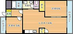 ラディア永犬丸[3階]の間取り
