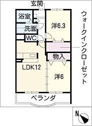 クラール小坂井[1階]の間取り