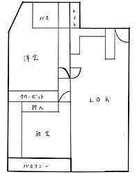 吉田町第一共同ビル[3階]の間取り