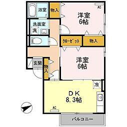 TMK ホープI K棟[2階]の間取り