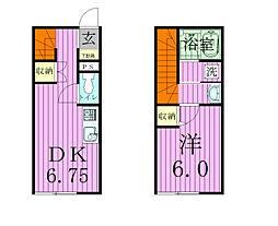 ルミエール北松戸[105号室]の間取り