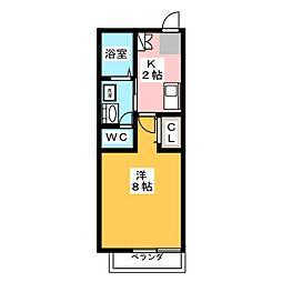 モンセジュール本山南[2階]の間取り
