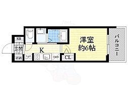 Osaka Metro御堂筋線 西中島南方駅 徒歩11分の賃貸マンション 3階1Kの間取り