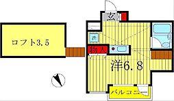 ジュネパレス松戸第51[3階]の間取り