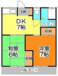 栄進ハイツ[1階]の間取り