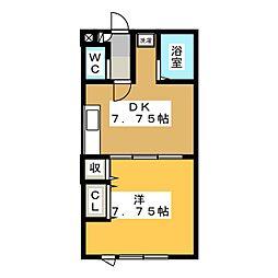 グレープ館B[2階]の間取り