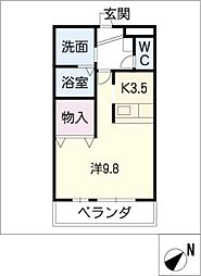 エス・ステージ住吉[2階]の間取り