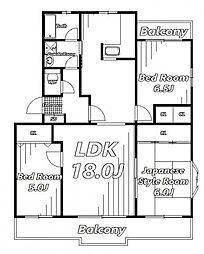 ヴィレッジハウス小中台[2階]の間取り