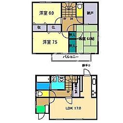 [一戸建] 高知県高知市福井扇町 の賃貸【/】の間取り