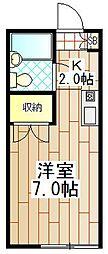 神奈川県厚木市妻田北4丁目の賃貸アパートの間取り
