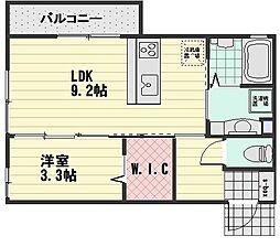 (仮)D-room大町西3丁目[202号室]の間取り