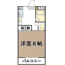 中森マンションA[311号室]の間取り