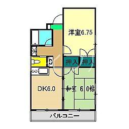 ルミネ中沢[2階]の間取り