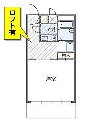 東京都江戸川区上篠崎4丁目の賃貸アパートの間取り