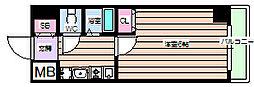 エスリード福島駅前[12階]の間取り