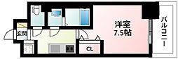 JR東海道・山陽本線 新大阪駅 徒歩11分の賃貸マンション 5階1Kの間取り