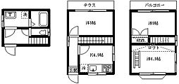 [一戸建] 東京都中野区若宮2丁目 の賃貸【東京都 / 中野区】の間取り