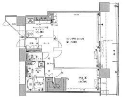 間取り(1LDK/価格4980万円/専有面積66.72/バルコニー面積18.72)