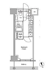 JR総武線 飯田橋駅 徒歩5分の賃貸マンション 3階1Kの間取り