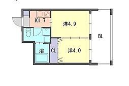 ラフィーネ井尻[3階]の間取り