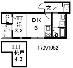 ハーモニーテラス中野SKH[1階]の間取り