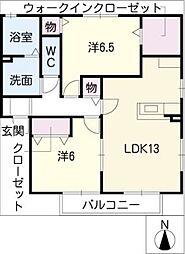 レジデンス神ノ倉[2階]の間取り