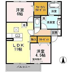 Premier藤阪[1階]の間取り