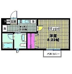 ベイヒルズ横濱[4階]の間取り
