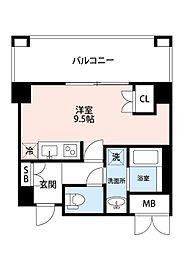 JR東海道・山陽本線 岸辺駅 徒歩12分の賃貸マンション 7階1Kの間取り