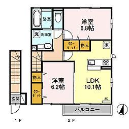 (仮)D‐room桜区南元宿2丁目 I[205号室]の間取り