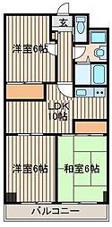 シャネレードM・K[4階]の間取り