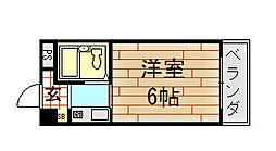 ハイツ八戸ノ里[208号室]の間取り