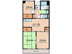 近畿マンション[6階]の間取り
