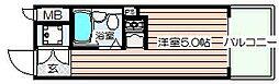 大阪府大阪市北区西天満3の賃貸マンションの間取り