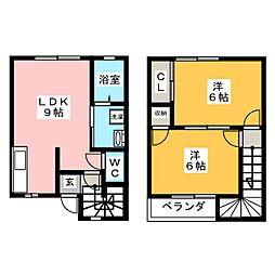 [テラスハウス] 三重県伊賀市小田町 の賃貸【三重県 / 伊賀市】の間取り
