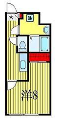 ATORAS MAKUHARI 4階1Kの間取り