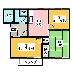 イッツエステート B棟[2階]の間取り